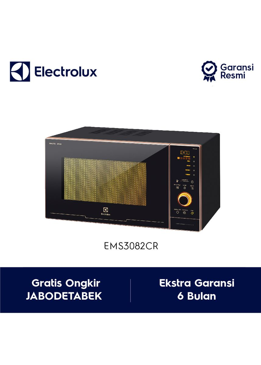 Hitam color Microwave Ovens . Electrolux 5-in-1 Microwave Oven with Air Cook Model EMS3082CR Rose Gold - Garansi Resmi ( Non Jabodetabek) -