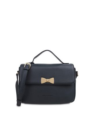 Navy color Hand Bags . Tas Travel Les Catino Miona Top Handle Midnight Navy -