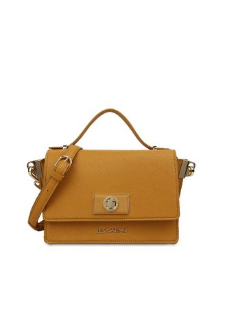 Yellow color Hand Bags . Tas Travel Les Catino Ny. Manhattan Top Handle Flap Cb Sun Flower -