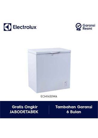 Putih color Kulkas . Electrolux Chest Freezer Model ECM1450WA / ECM 1450WA / ECM 1450 WA -