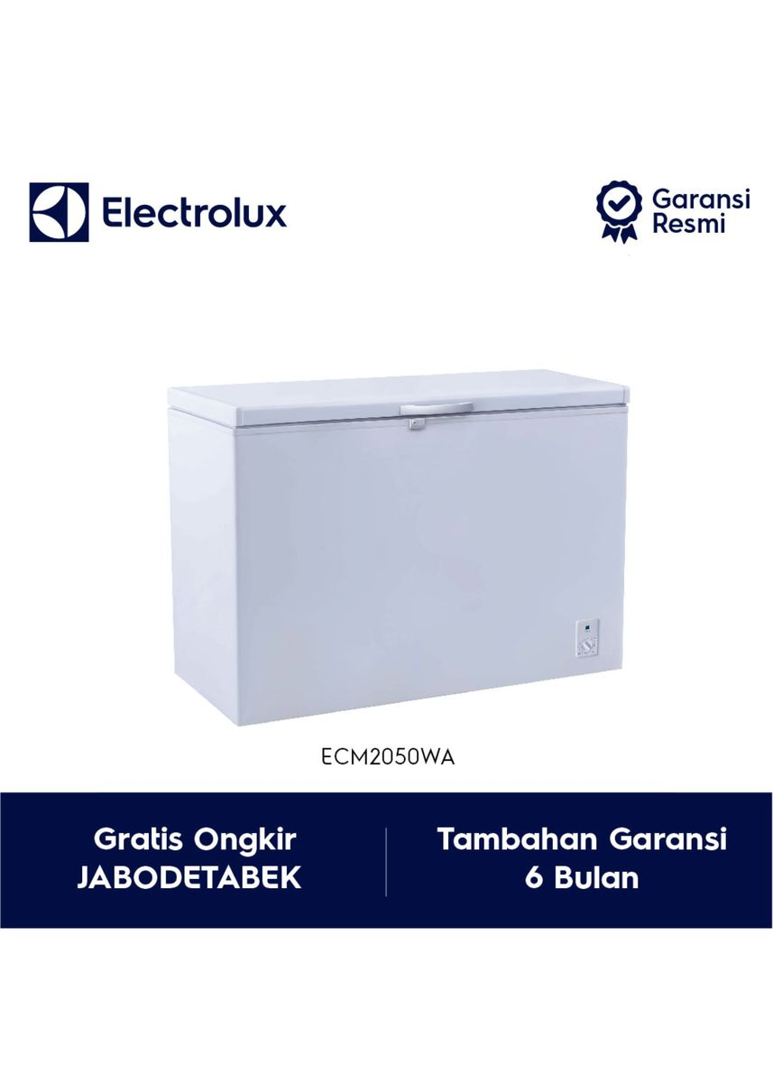 Putih color Kulkas . Electrolux Chest Freezer Model ECM2050WA / ECM 2050WA / ECM 2050 WA -