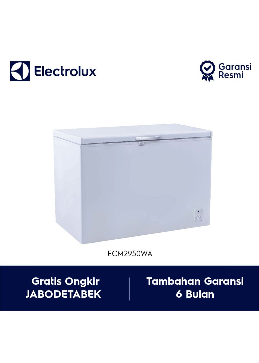 Putih color Kulkas . Electrolux Chest Freezer Model ECM2950WA / ECM 2950WA / ECM 2950 WA -