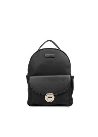 Black color Backpacks . Tas Ransel Les Catino Aileen Backpack Black -