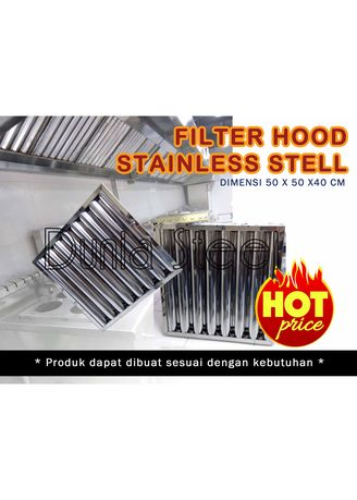 Silver color Chimney . FILTER EXHAUST HOOD STAINLESS (CUSTOM) -