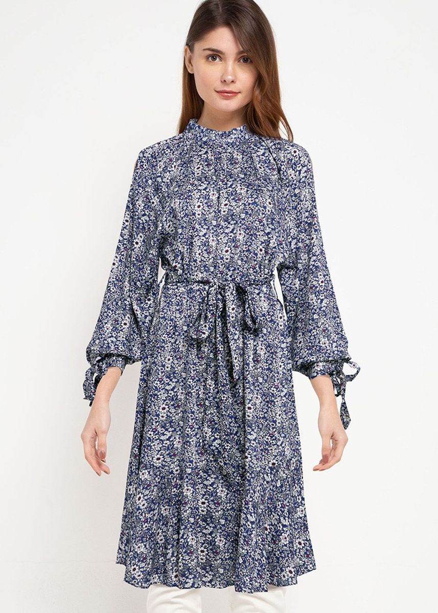 Blue color Tops . Gama Tunic -