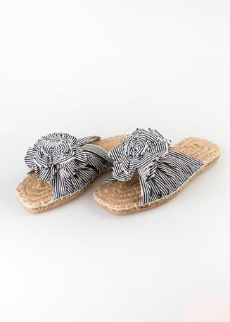 Multi color Sandals and Slippers . Sole Manille Striped Flower  -