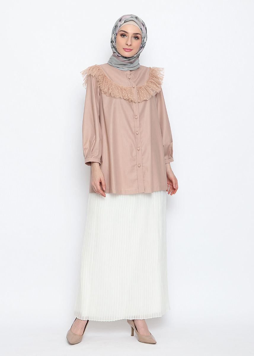 Brown color Tops . Clarissa Blouse -