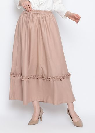 Brown color Bottoms . Jennie Skirt -
