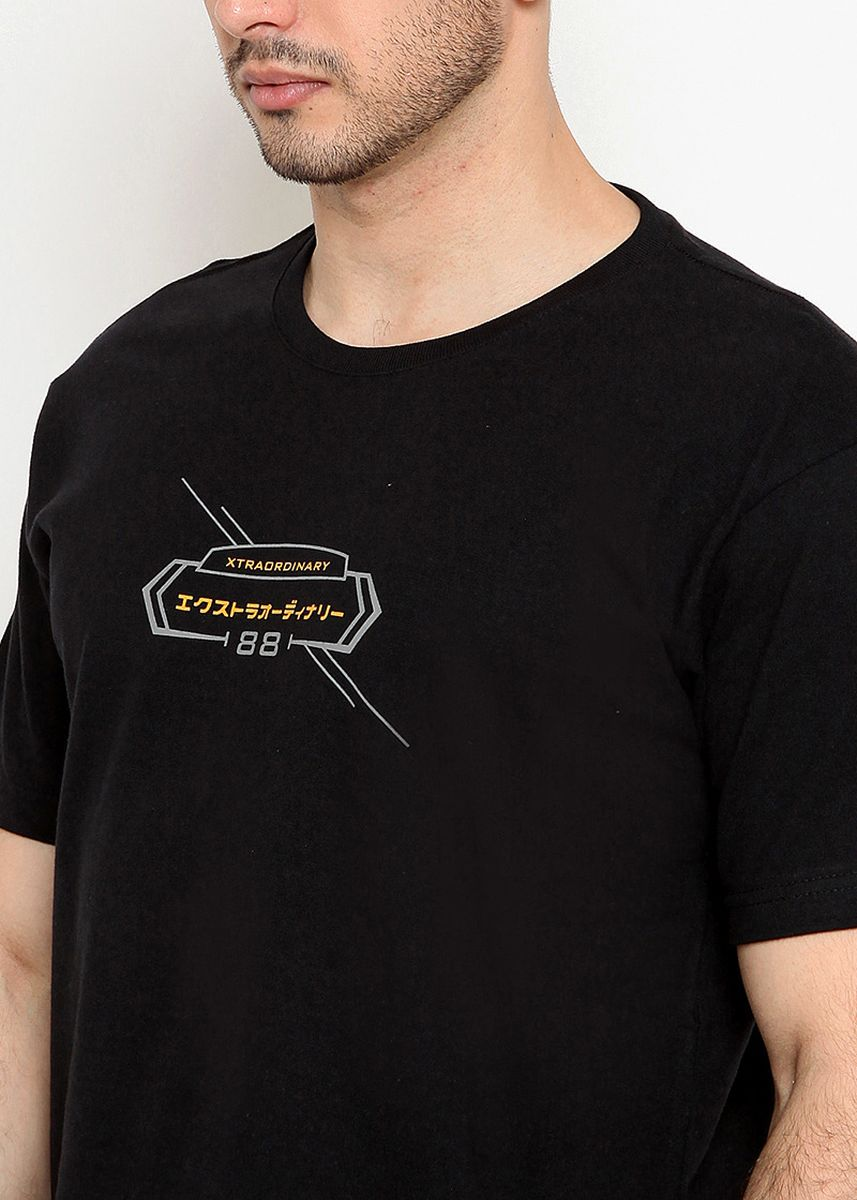 Black color T-Shirts and Polos . XTRAORDINARY Kaos Pria  -