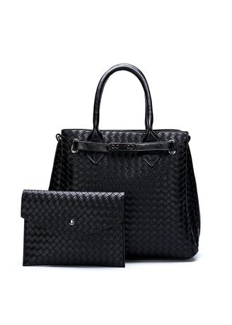 Black color Wallets and Clutches . Large Capacity High-end Women's Handbags -