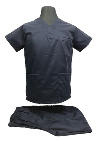 Blue color Casual Shirts . SCRUB SUIT Medical Doctor Nurse Uniform High Quality Made SS01A Polycotton by Intal Garments Color Midnight Blue -