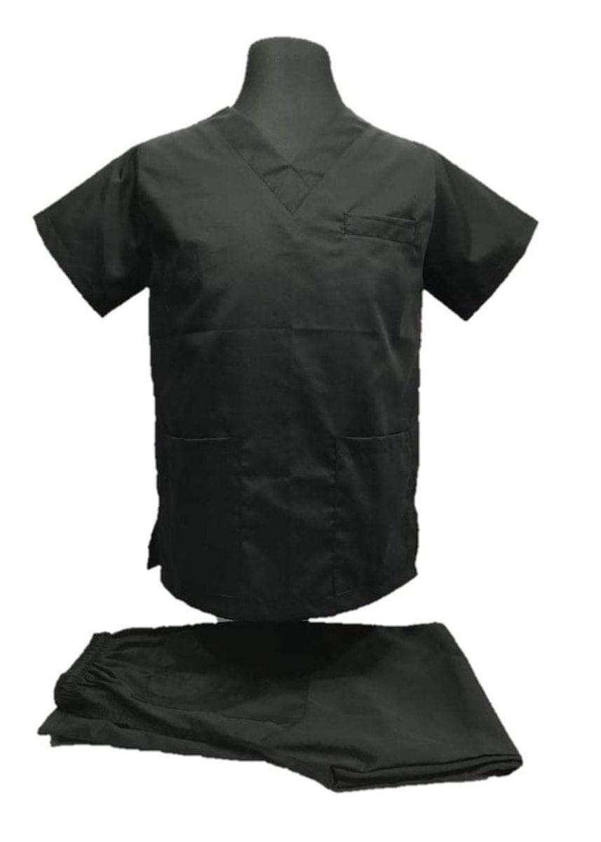 Black color Casual Shirts . SCRUB SUIT Medical Doctor Nurse Uniform High Quality Made SS01A Polycotton by Intal Garments Color Black -