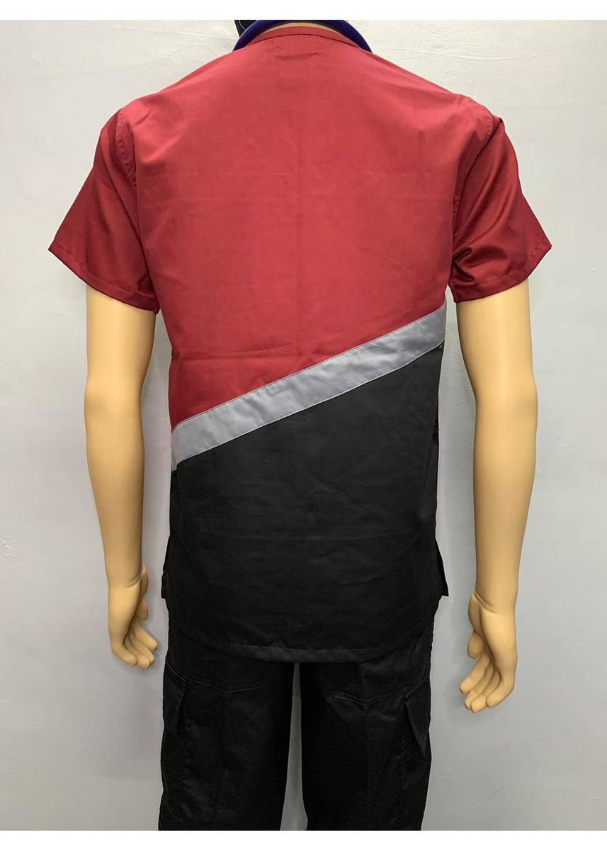 Black color Casual Shirts . SCRUB SUIT Medical Doctor Nurse Uniform CARGO Pants High Quality Made SS15A Polycotton by Intal Garments Color Black Maroon -