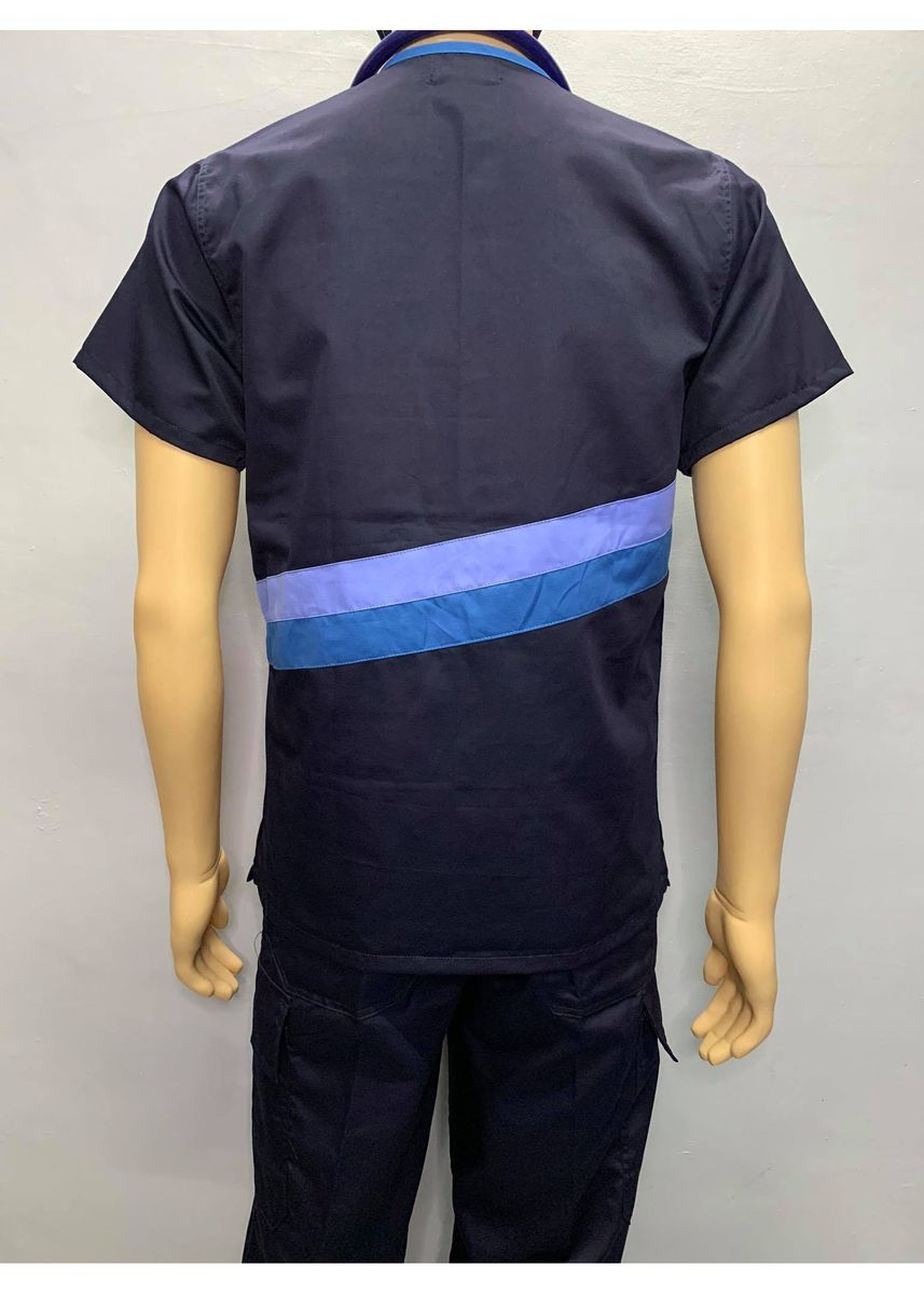Blue color Casual Shirts . SCRUB SUIT Medical Doctor Nurse Uniform CARGO Pants High Quality Made SS15B Polycotton by Intal Garments Color Midnight Blue -