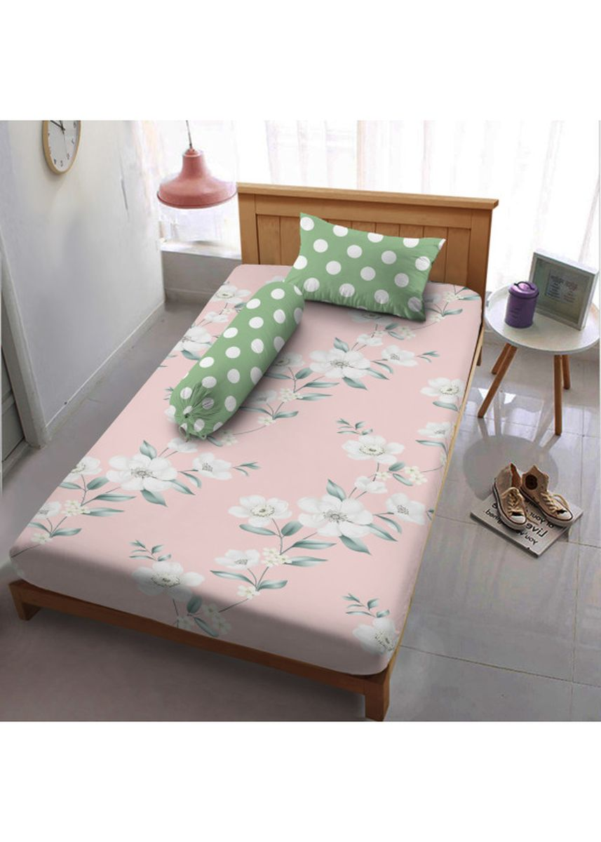 Pink color Bedroom . Sprei Extra Single 120 Chloe Dirumah Aja  Kintakun D'luxe Microtex  20cm 3in1 -