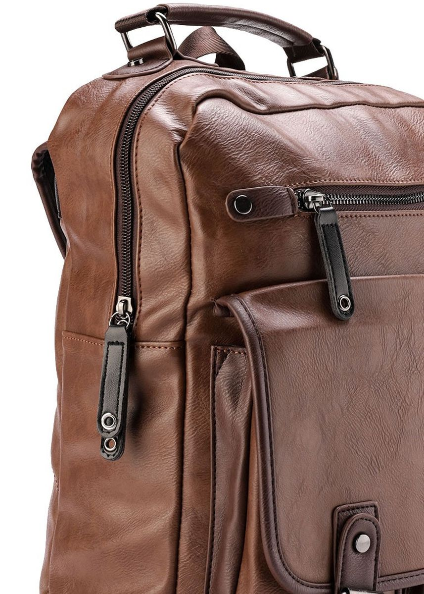 Tan color Ransel . Urban State - Pu Utility Large Backpack -