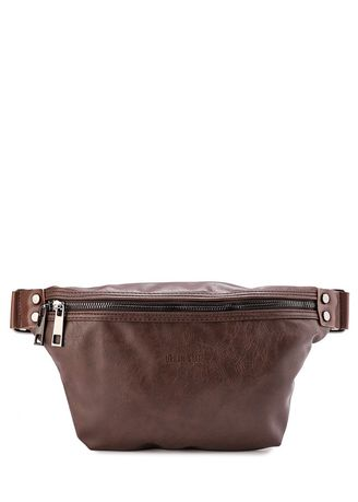 Brown color Messenger Bags . Urban State - Distressed Leather Small Bumbag -