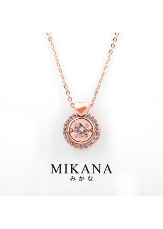 Gold color  . Mikana 18k Rose Gold Plated Ohara Pendant Necklace Accessories for Women -