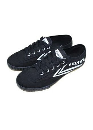 Black color Casual Shoes . Feiyue Men's Sneakers -