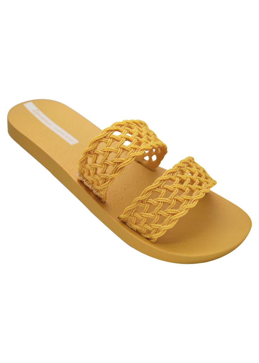 Yellow color Sandals and Slippers . Ipanema Renda Fem -
