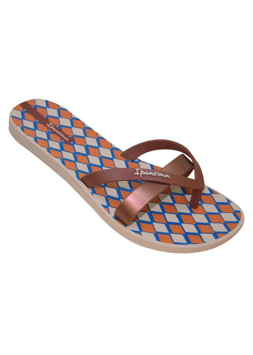 Brown color Sandals and Slippers . Ipanema Kirei Silk V Fem -