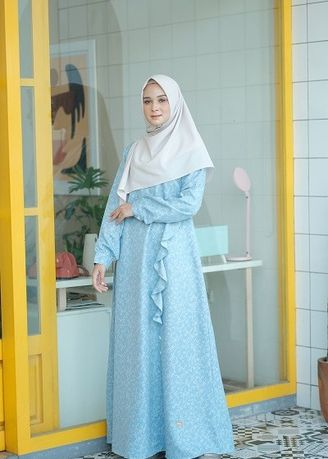 Biru color Terusan/Dress . NS 070 Baby Blue -