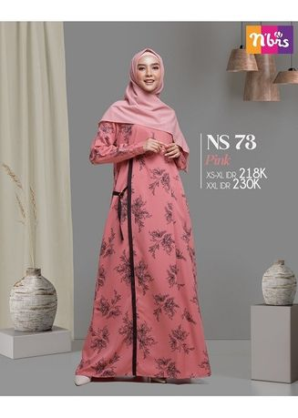 Merah Muda color Terusan/Dress . NS 073 Pink -