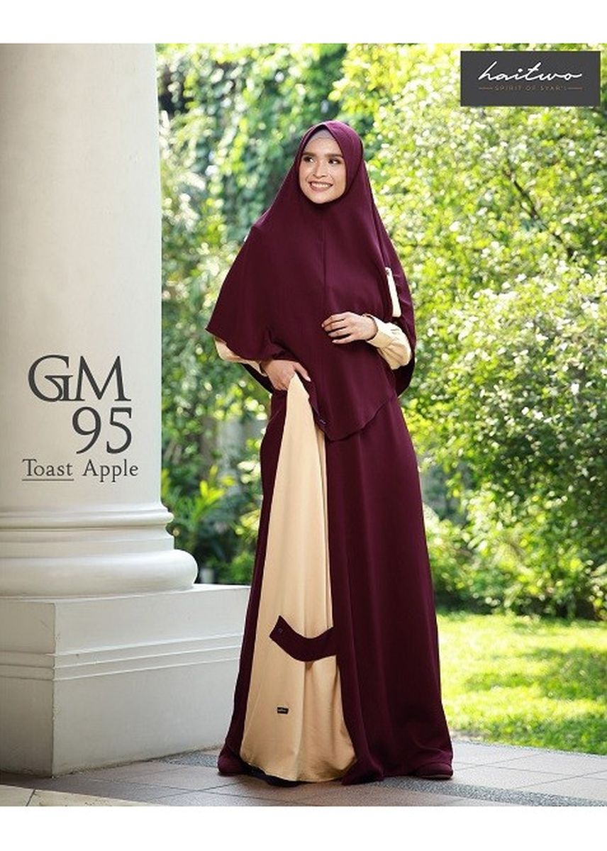 Ungu color Terusan/Dress . GM 095 Toast purple -
