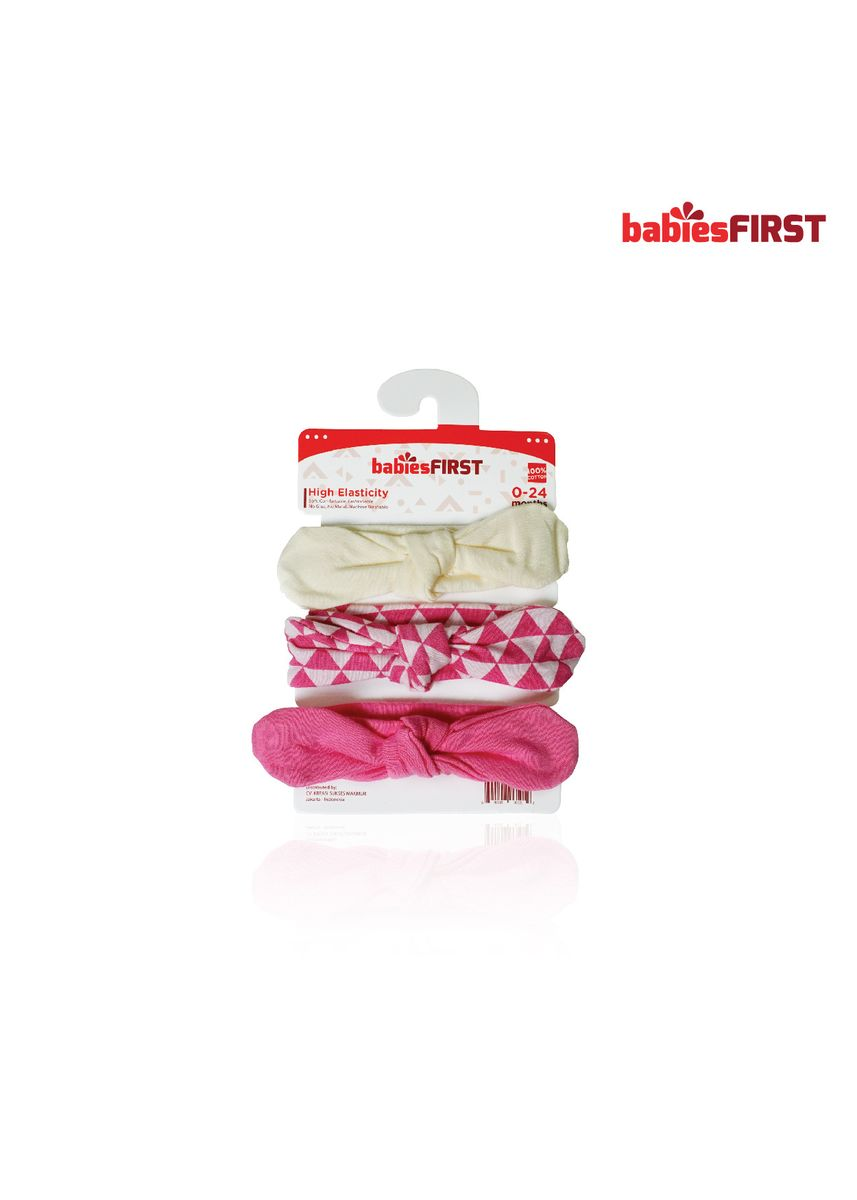 Red color Accessories . BabiesFIRST Headband Baby / Headband Bayi / Bandana Bayi / Bando Motif  -