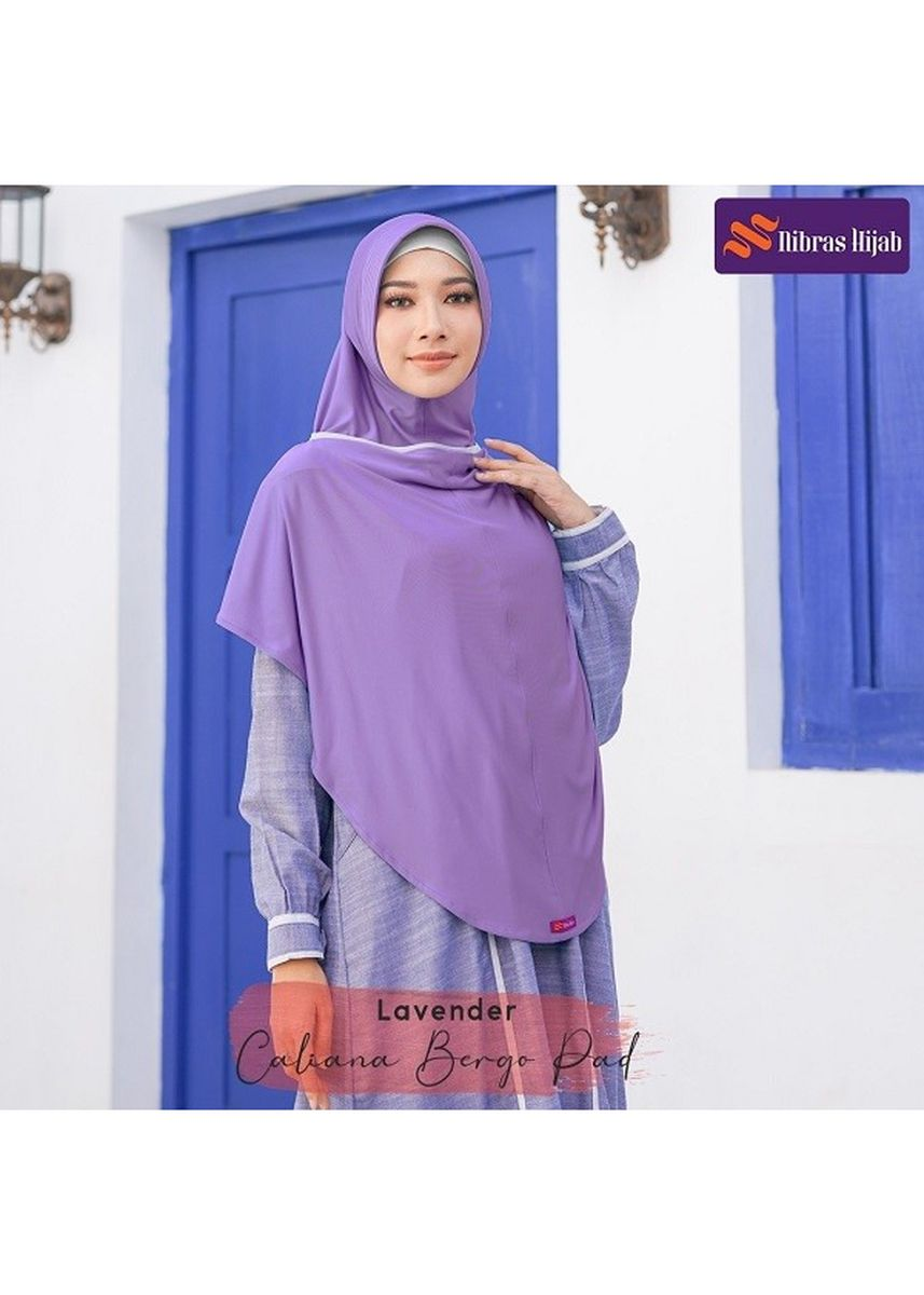 Ungu color Hijab . CALIANA BERGO Lavender -