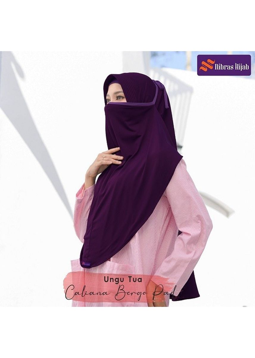 Ungu color Hijab . CALIANA BERGO Ungu Tua -