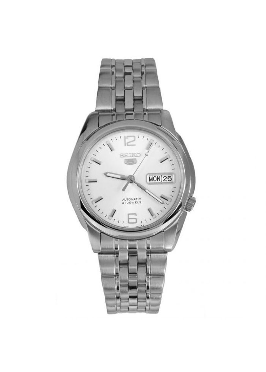 Silver color Analog . Seiko Automatic Men's Stainless Steel Strap Watch Snk385K1 -