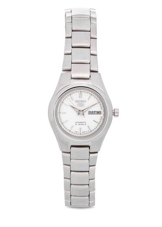 Silver color Analog . Seiko Automatic Women's Stainless Steel Strap Watch Symc07K1 -