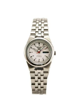 Silver color Analog . Seiko Automatic Women's Stainless Steel Strap Watch Symg61J1 -
