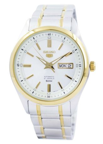 Silver color Analog . Seiko Automatic Men's Stainless Steel Strap Watch Snkn92K1 -
