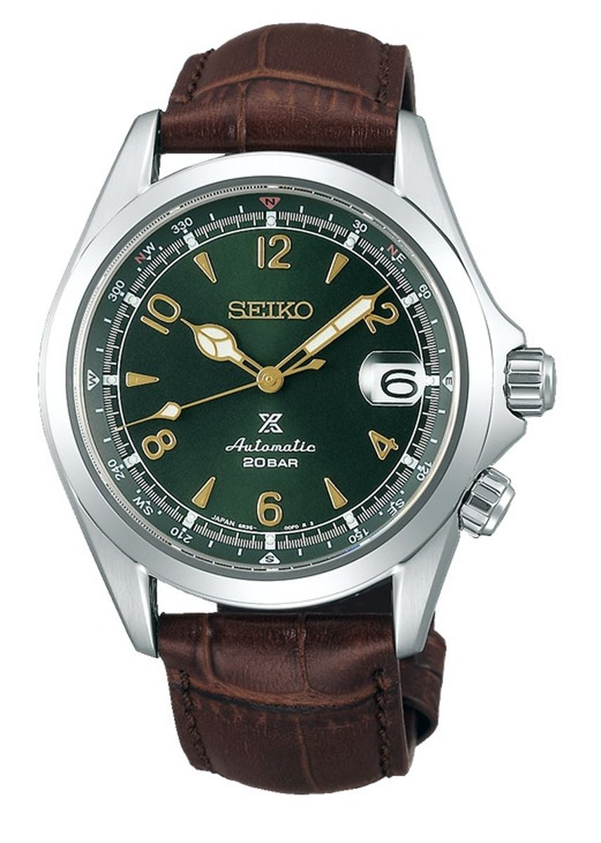 Brown color Analog . Seiko Automatic Men's Leather Strap Watch Spb121J1 -