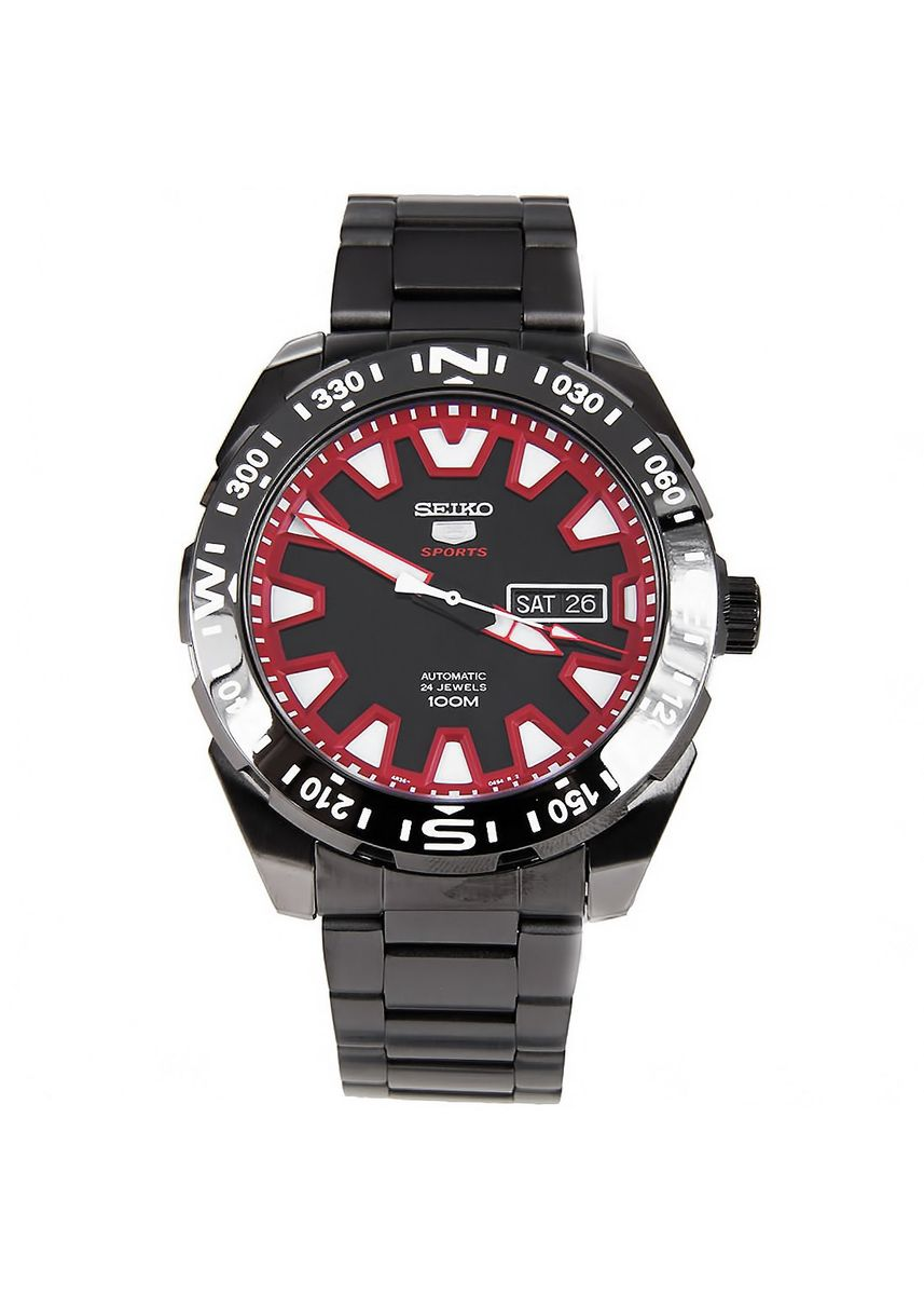 Silver color Analog . Seiko Automatic Men's Stainless Steel Strap Watch Srp749K1 -