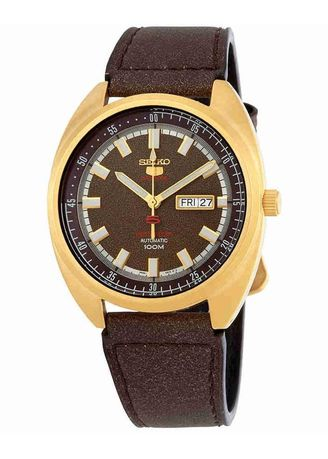 Brown color Analog . Seiko Automatic Men's Leather Strap Watch Srpb74K1 -