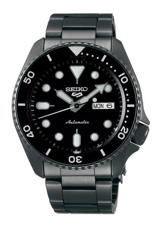 Black color Analog . Seiko Automatic Men's Stainless Steel Strap Watch Srpd65K1 -