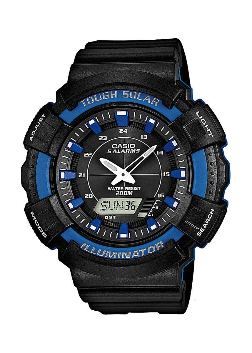 Black color Analog . Casio Solar Men's Rubber Strap Watch Ad-S800Wh-2A2 -