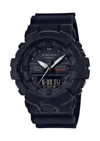 Black color Analog . Casio G-Shock Dual Display Men's Rubber Strap Watch Ga-835A-1A -