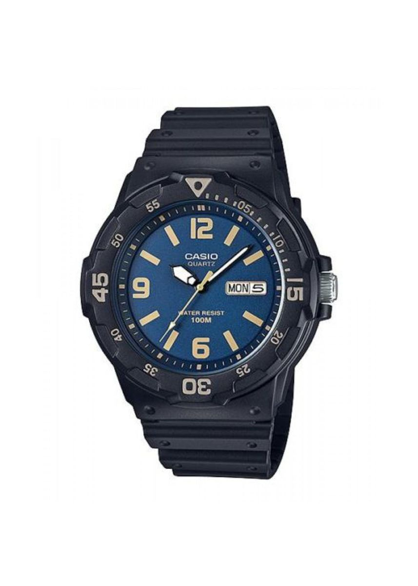 Black color Analog . Casio Quartz Men's Rubber Strap Watch Mrw-200H-2B3Vdf -