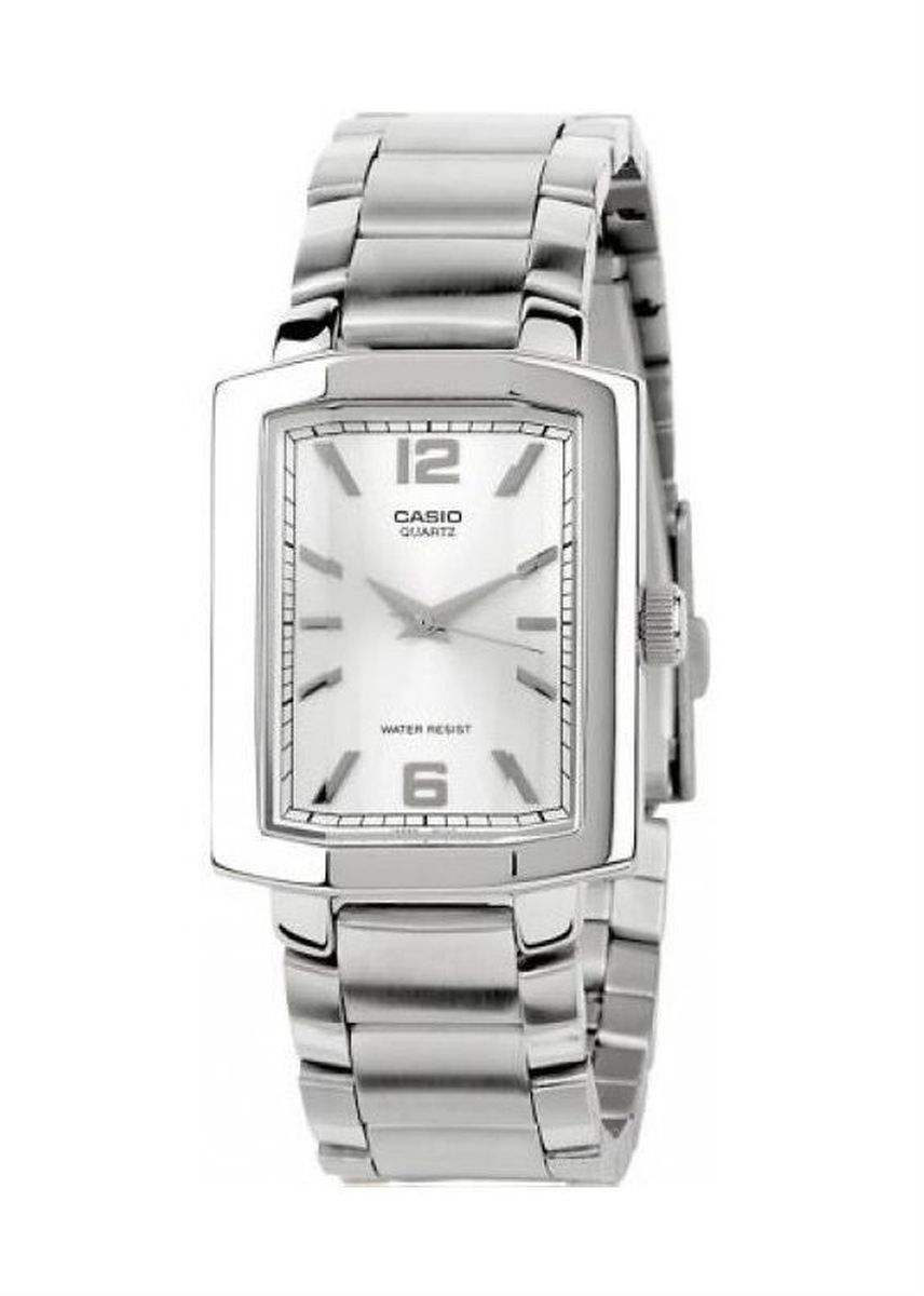 Silver color Analog . Casio Quartz Men's Stainless Steel Strap Watch Mtp-1233D-7Adf -