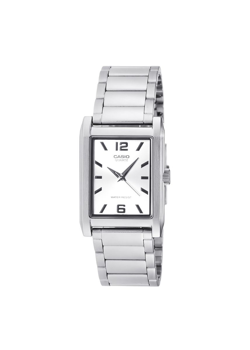 Silver color Analog . Casio Quartz Men's Stainless Steel Strap Watch Mtp-1235D-7Adf -