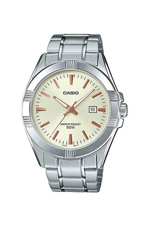 Silver color Analog . Casio Quartz Men's Stainless Steel Strap Watch Mtp-1308D-9Avdf -