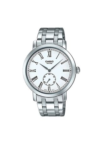 Silver color Analog . Casio Quartz Men's Stainless Steel Strap Watch Mtp-E150D-7B -