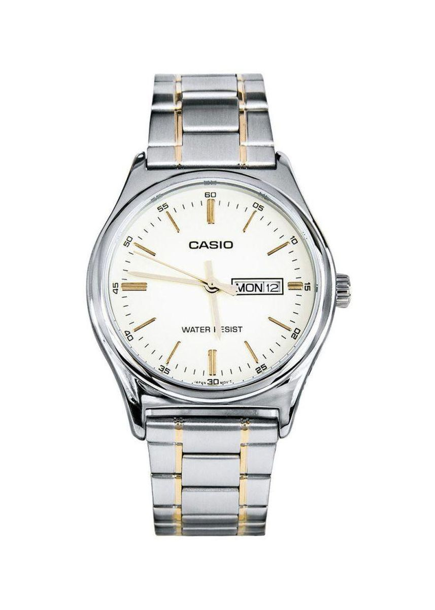 Silver color Analog . Casio Quartz Men's Stainless Steel Strap Watch Mtp-V003Sg-9A -