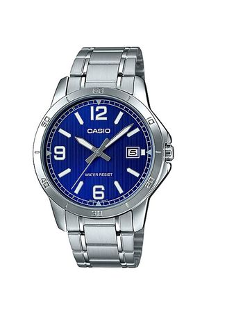 Silver color Analog . Casio Quartz Men's Stainless Steel Strap Watch Mtp-V004D-2B -