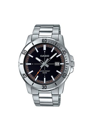 Silver color Analog . Casio Quartz Men's Stainless Steel Strap Watch Mtp-Vd01D-1Evudf -