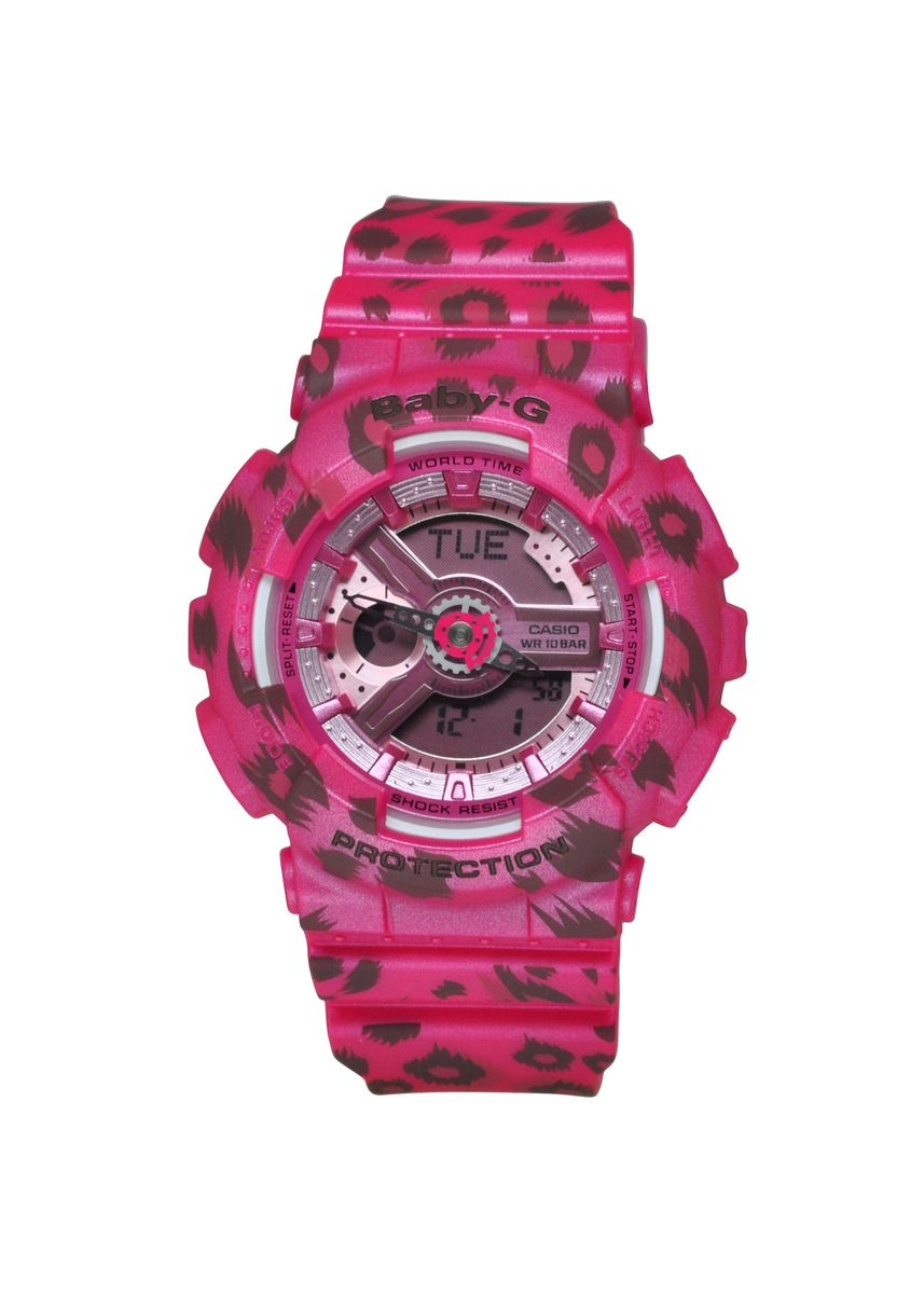 Pink color Analog . Casio Baby-G Dual Display Women's Rubber Strap Watch Ba-110Lp-4A -